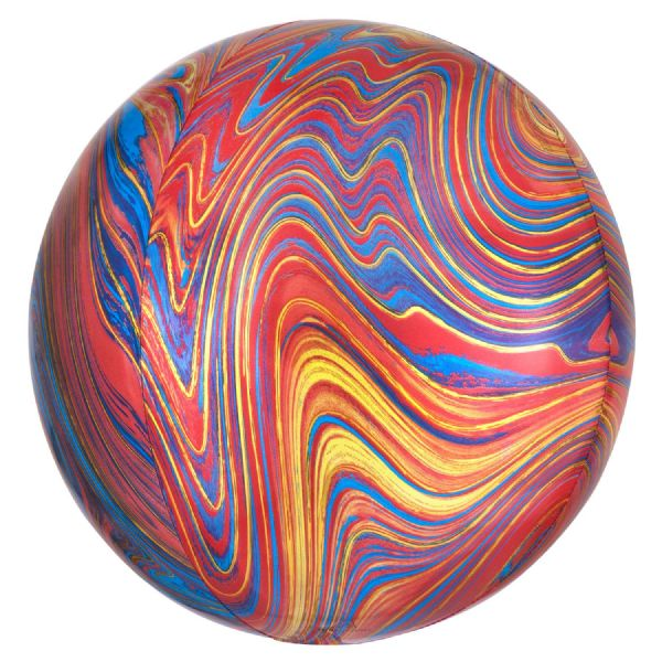 Colourful Marblez Round Orbz 15in